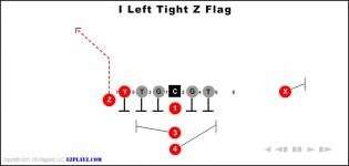 I Left Tight Z Flag