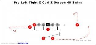 Pro Left Tight X Curl Z Screen 48 Swing