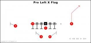 Pro Left X Flag
