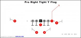 Pro Right Tight Y Flag
