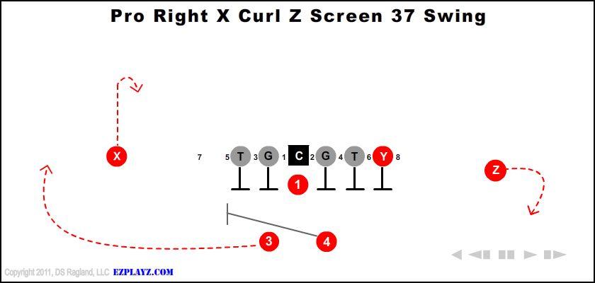 pro right x curl z screen 37 swing - Pro Right X Curl Z Screen 37 Swing