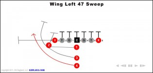 Wing Left 47 Sweep