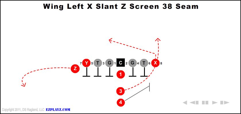 Wing Left X Slant Z Screen 38 Seam