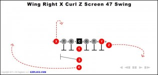 Wing Right X Curl Z Screen 47 Swing