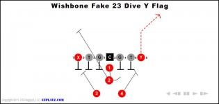 Wishbone Fake 23 Dive Y Flag