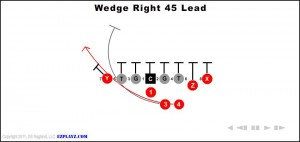 WEDGE RIGHT 45 LEAD