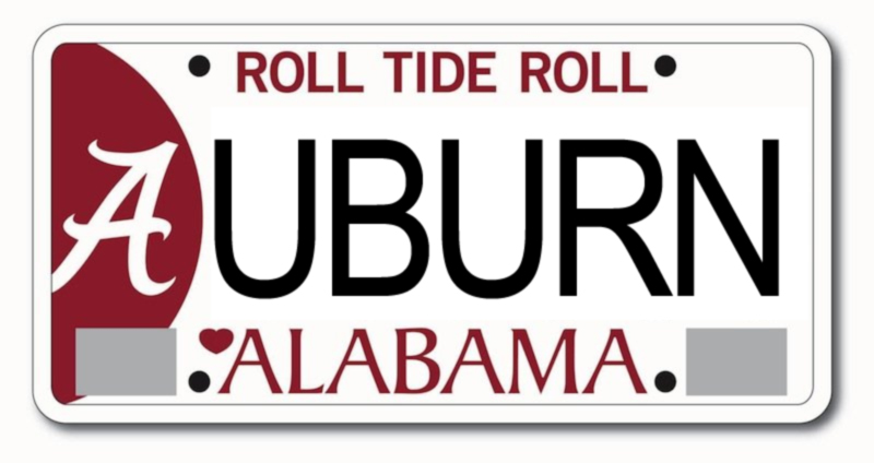 Funny Alabama License Plate