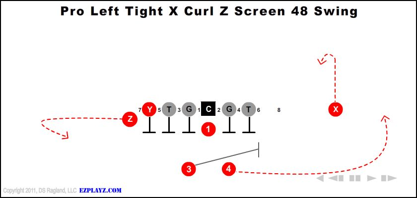pro left tight x curl z screen 48 swing - Pro Left Tight X Curl Z Screen 48 Swing