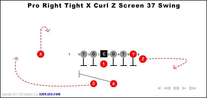 pro right tight x curl z screen 37 swing - Pro Right Tight X Curl Z Screen 37 Swing