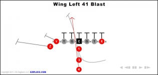wing left 41 blast 315x150 - 600+ Youth Football Plays for $11.99!
