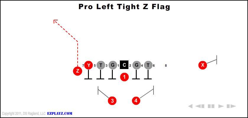 Pro Left Tight Z Flag