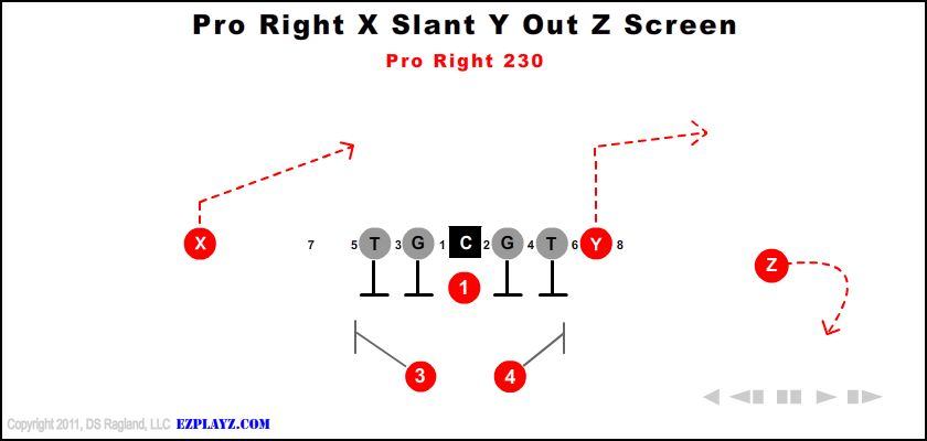Pro Right X Slant Y Out Z Screen 230