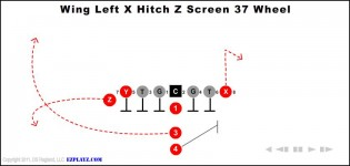 wing left x hitch z screen 37 wheel 315x150 - Animated Football Plays